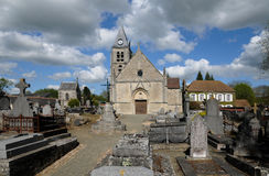 The old church of Villers en Arthies Royalty Free Stock Images