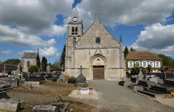 The old church of Villers en Arthies Stock Images