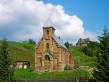 Old church in Vorokhta, Ukraine Stock Image