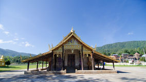 Old church at Wat Sri Pho Chai Sang Pha temple in Loei province, Thailand (Temples built during the Ayutthaya period) stock images