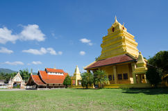 Old church at Wat Sri Pho Chai Sang Pha temple in Loei province, Thailand (Temples built during the Ayutthaya period) royalty free stock images