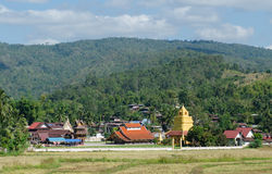 Old church at Wat Sri Pho Chai Sang Pha temple in Loei province, Royalty Free Stock Image
