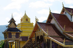 Old church at Wat Sri Pho Chai Sang Pha temple in Loei province, Thailand (Temples built during the Ayutthaya period) royalty free stock photography