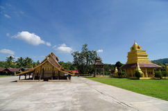 Old church at Wat Sri Pho Chai Sang Pha temple in Loei province, Thailand (Temples built during the Ayutthaya period) stock photography