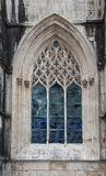 Old Church Window with Details. Old ornate Church Window with stained glass insert Stock Photography
