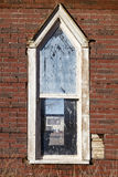 Old church window grungy wall Stock Photography