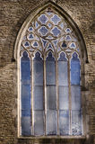 Old church window in Levenshulme Manchester. Royalty Free Stock Photography