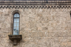 Old church window showing much detail and texture Royalty Free Stock Photo