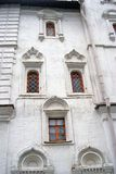Old church windows of different shapes. Moscow Kremlin Royalty Free Stock Images