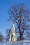 Old church in winter Stock Photo