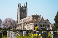 Free Old Church With Graveyard England Stock Photo - 24447310