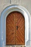 Old church wooden doors at austria. Wooden church doors at austria Royalty Free Stock Photos