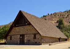 Old church. With wooden roof Stock Photo