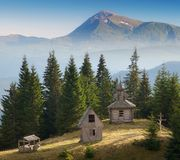 Old church in the woods Royalty Free Stock Images