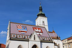 Old church in Zagreb Royalty Free Stock Photography