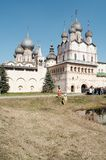 Old churches. In Rostov-Velikiy, Russia royalty free stock photo