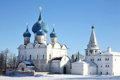 Old churches. In Suzdal (Russia Royalty Free Stock Photo