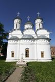 Old churches in Suzdal, Russia. Old churche in Rizopolozhenskij monastery-fortress (Suzdal, Russia). 1520-1560 Royalty Free Stock Image