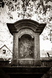 Old churchyard,Zinnik,Belgium. Chapel (12th and 17th c.) and old cemetery (13th to 19th c Royalty Free Stock Photo