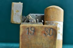 Old cigarette lighters Royalty Free Stock Photo