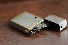 Old cigarette lighters Stock Image