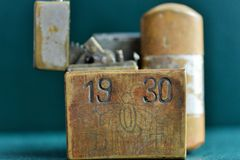 Old cigarette lighters Royalty Free Stock Image