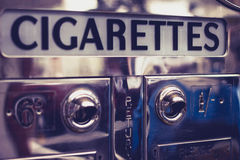 Old cigarette vending machine Stock Photos