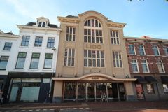 Old cinema building named Lido in the inner city of the town Leiden in the Netherlands. Old cinema building named Lido in the inner city of the town Leiden in stock photos
