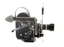 Old cinema camera. Old bolex swiss spring camera Royalty Free Stock Photos
