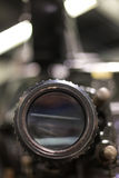 Old cinema camera lense close up Royalty Free Stock Image