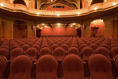 Old cinema interiors Royalty Free Stock Image