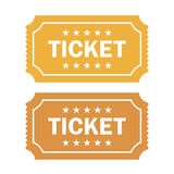 Old cinema ticket vector illustration Royalty Free Stock Image