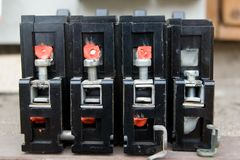 Old circuit breakers Royalty Free Stock Photography
