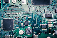 old circuit harddisk board Royalty Free Stock Photography