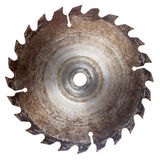 Old circular saw blade Stock Images