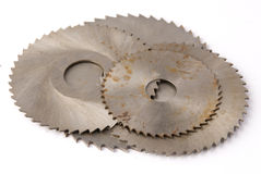 Old Circular saws Stock Photo