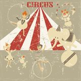 Old circus grunge background Stock Images