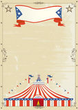 Old Circus grunge poster. Royalty Free Stock Images