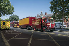 Old Circus Lorry, Trailer and Caravan stock photo