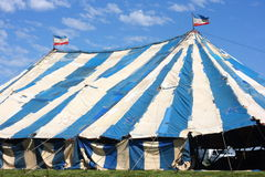 Old Circus Tent. An old circus tent sat up and almost ready for the show Stock Photos