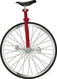 Old circus uni cycling Royalty Free Stock Images