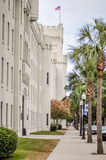 The old Citadel capus buildings  in Charleston south carolina Royalty Free Stock Photo