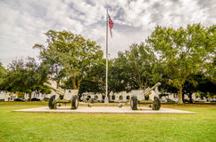 The old Citadel capus  buildings in Charleston south carolina Royalty Free Stock Photos