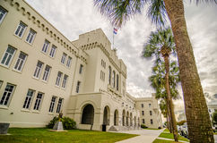 The old Citadel capus buildings in Charleston south carolina Stock Photo