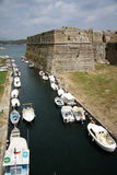 Old citadel in Corfu Town (Greece). Moat of the Old citadel (Palaio Frourio in Greek) in Corfu Town (Greece). It is an old Venetian fortress built on an Stock Photography