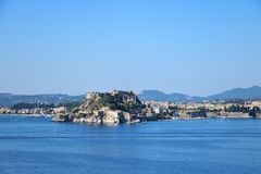 Old citadel in Corfu Town Greece Stock Images