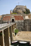 Old citadel in Corfu Town (Greece). Old citadel (Palaio Frourio in Greek) in Corfu Town (Greece). It is an old Venetian fortress built on an artificial islet Stock Photos
