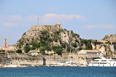 Old citadel in Corfu Town Greece royalty free stock image