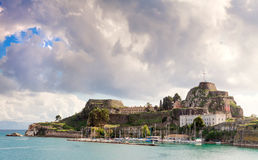 Old Citadel or Fortress in Corfu Town royalty free stock photography