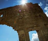 Old citadel ruins .Mangup Kale, Crimea, Ukraine Royalty Free Stock Photo